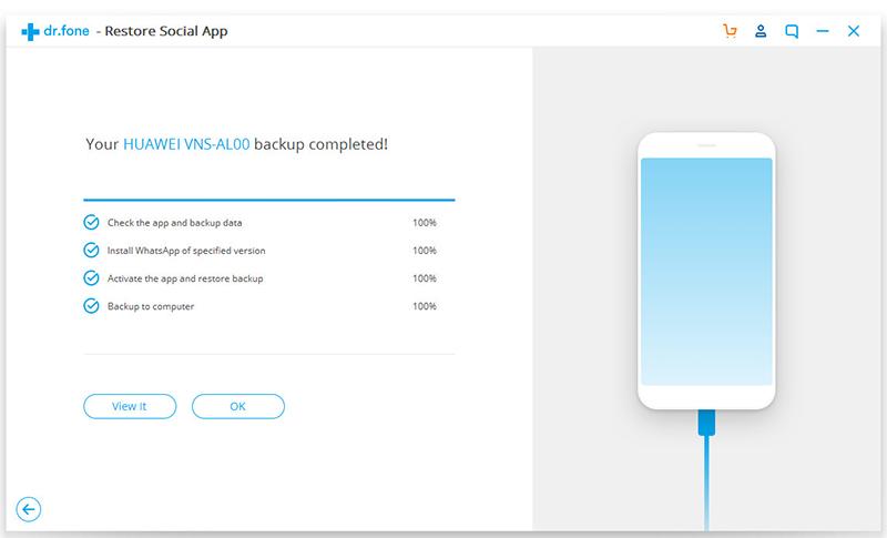 backup whatsapp on android 3 - Comment sauvegarder sélectivement des données WhatsApp sur iPhone & Android ?