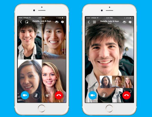 Skype fait plus fort que FaceTime avec ses appels de groupes jusqu'à 50 personnes