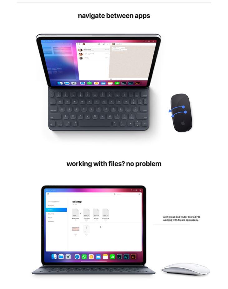 iOS 13 : un concept prévoit le support de la souris sur iPad