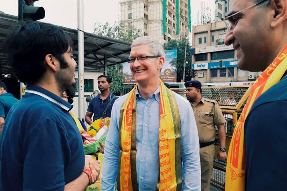 iPhone 6 S Inde Tim Cook - Apple promeut l'iPhone 6S en Inde