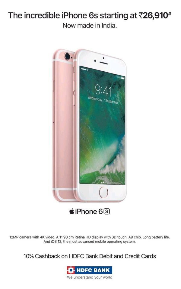 iPhone 6 S Inde - Apple promeut l'iPhone 6S en Inde
