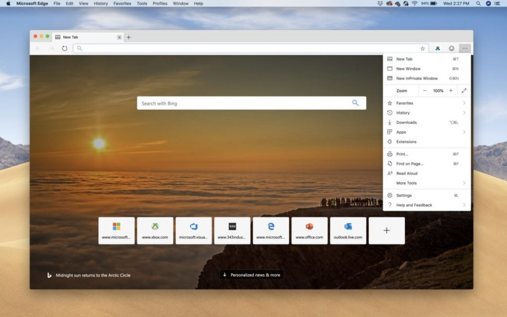 microsoft edge mac OS bis 1024x640 - Microsoft Edge : la version Canary arrive officiellement sur macOS