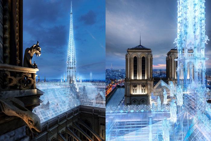 Projet Notre Dame de Paris Toit Verre 1 - Notre-Dame de Paris : les architectes des Apple Store veulent un toit en verre