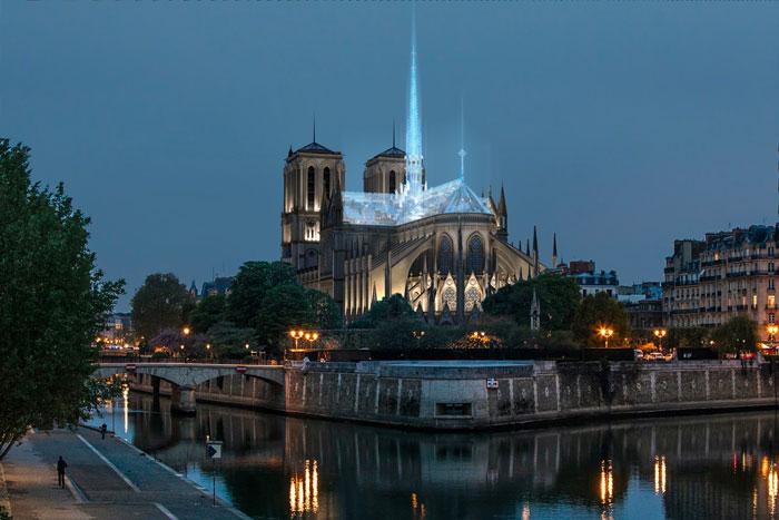 Notre-Dame de Paris : les architectes des Apple Store veulent un toit en verre