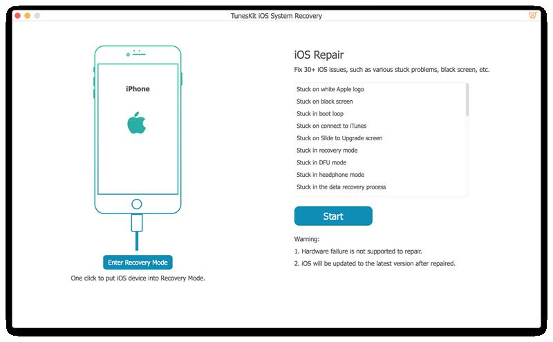 TunesKit iOS System Recovery : corrigez vos problèmes iOS sur Mac !