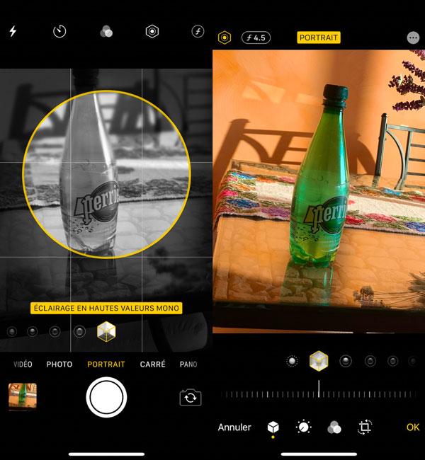 iOS 13 Beta 2 Appareil Photo Eclairage Hautes Valeurs Mono - iOS 13 bêta 2 est sorti, voici l'ensemble des nouveautés
