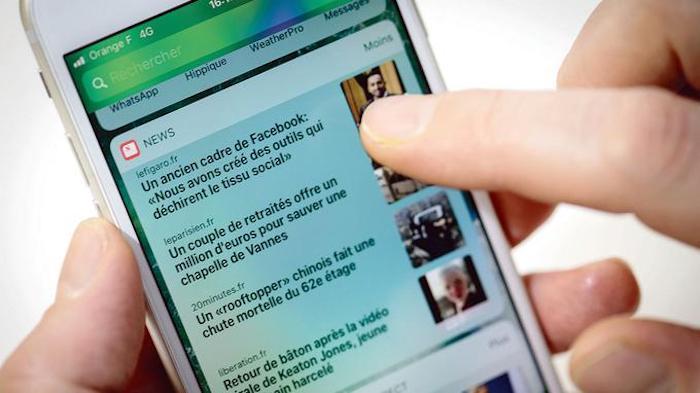 Apple News ajoute de nouveaux médias français