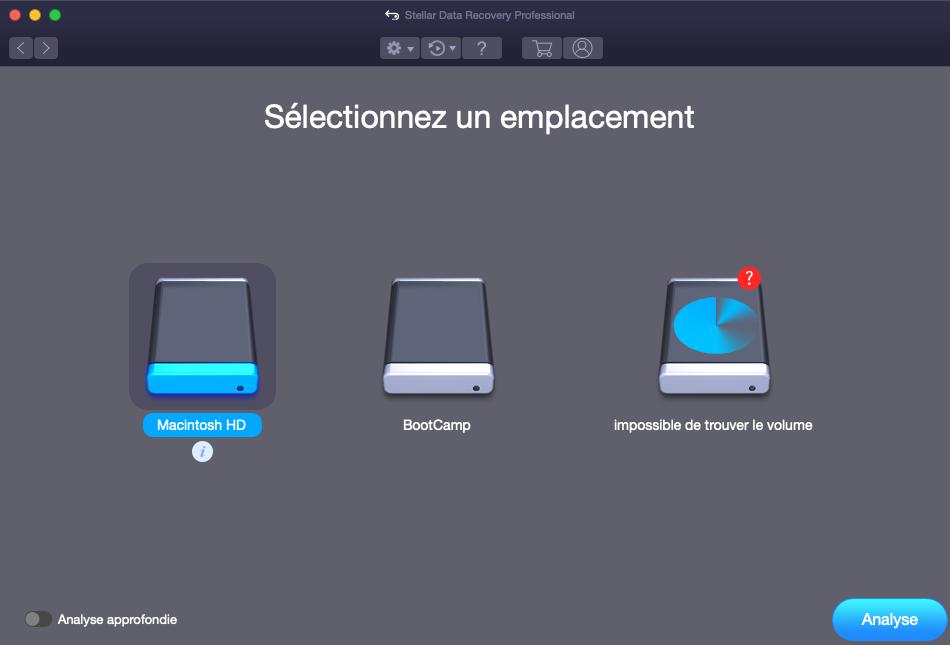 2 Stellar Data Recovery Professional emplacement - Stellar Data Recovery Professional : récupérer des fichiers supprimés (Mac & Windows)