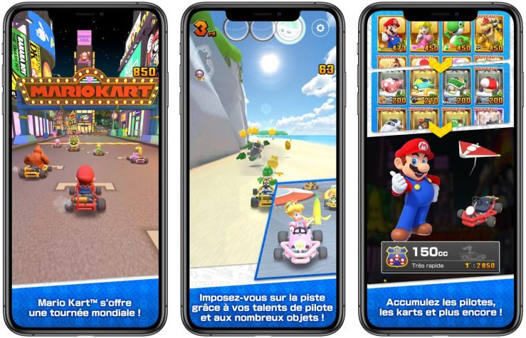 mario kart tour ios - Mario Kart Tour est disponible sur les iPhone, iPad & iPod Touch