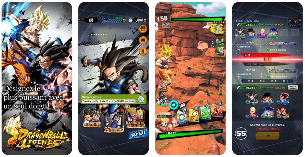 Dragon Ball Legends iPhone - Jeu du jour : Dragon Ball Legends (iPhone & iPad - gratuit)