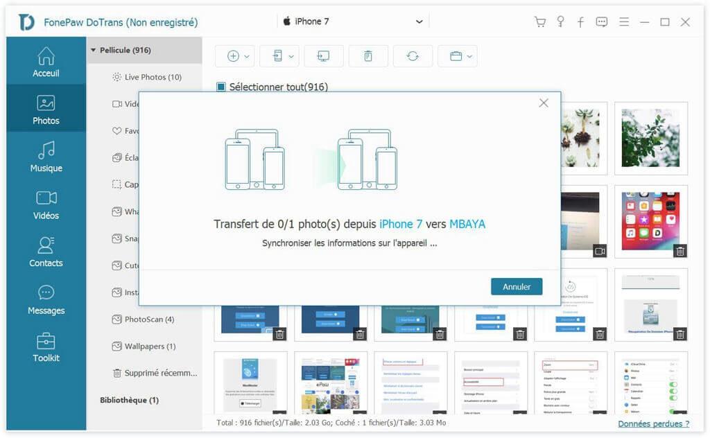 DoTrans : transférer des photos/vidéos iPhone vers Android