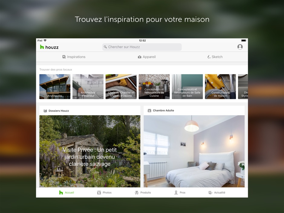 Houzz app - App du jour : Houzz : idées déco maison (iPhone & iPad - gratuit)
