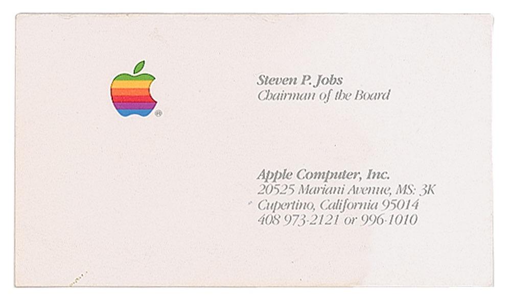 Carte Visite Steve Jobs - Estimée à 7500$, une disquette signée par Steve Jobs mise aux enchères