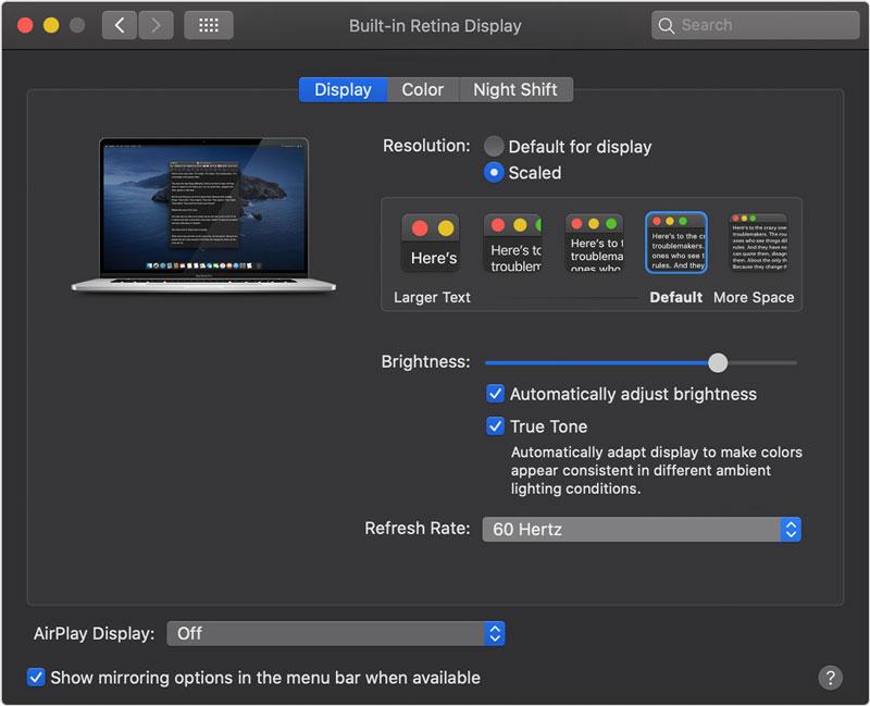 MacBook Pro 16 Pouces Taux Rafraichissement - Le MacBook Pro 16 Pouces peut faire varier le taux de rafraîchissement de son écran