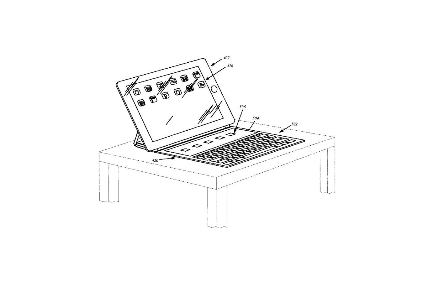 brevet ipad - Brevet : l'iPad pourrait disposer d'un clavier… avec Touch Bar !