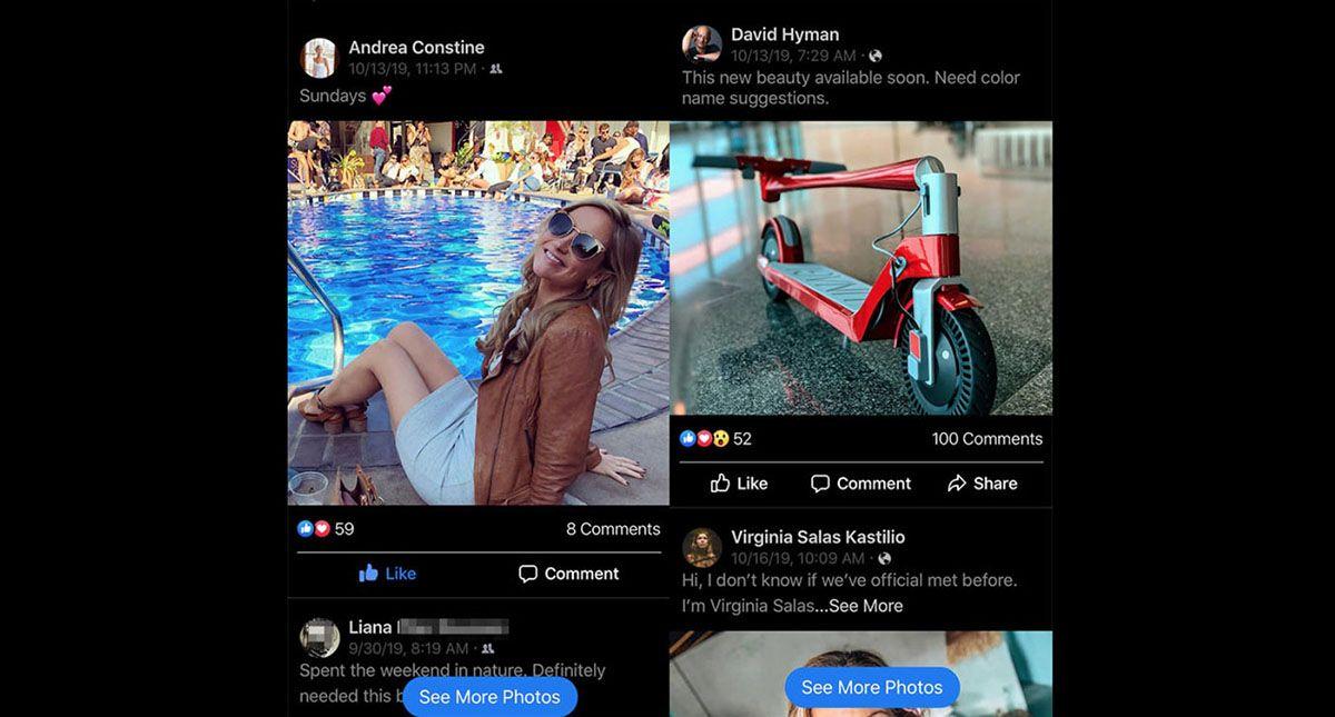 """Facebook teste un style """"Instagram"""" pour son application"""