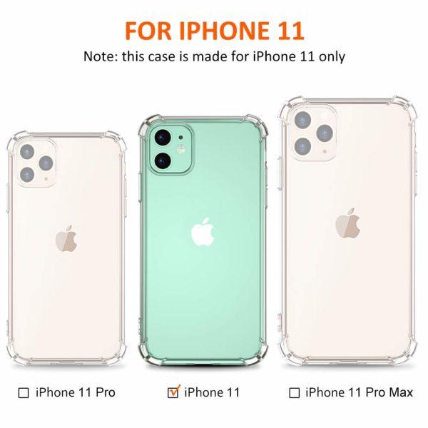 Babacom Coque p 0 - Babacom Coque pour iPhone 11, Etui de Protection Transparent Antichoc avec Quatre Coins Renforcés, Bumper Extrêmement Fin en TPU Souple Renforcé pour iPhone 11 (2019) 6,1 Pouces