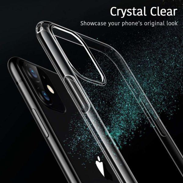 ESR Coque pour  1 - ESR Coque pour iPhone 11, Bumper Housse Etui de Protection Transparent en Silicone TPU Souple [Ultra Fin] [Ultra Léger] pour iPhone 11 (2019) 6,1 Pouces (Série Jelly, Transparent)