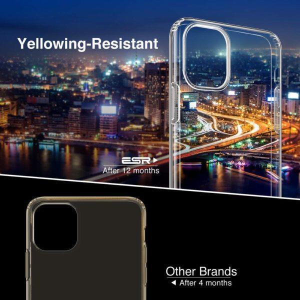 ESR Coque pour  4 - ESR Coque pour iPhone 11, Bumper Housse Etui de Protection Transparent en Silicone TPU Souple [Ultra Fin] [Ultra Léger] pour iPhone 11 (2019) 6,1 Pouces (Série Jelly, Transparent)