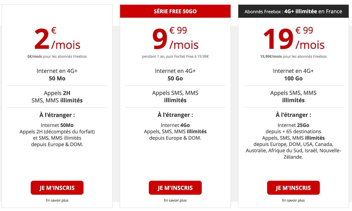 Free Mobile Forfaits Decembre 2019 - Free Mobile : une offre de 50 Go à 9,99 euros par mois… sans date limite !