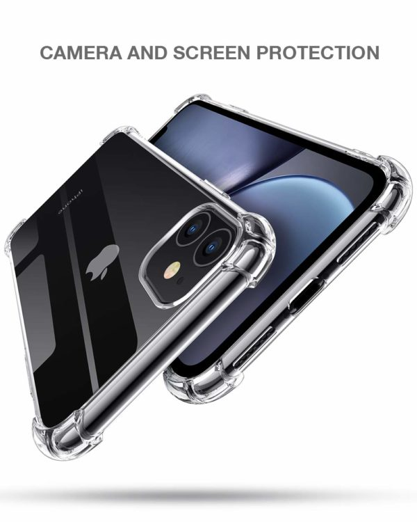 Joyguard Coque  3 - Joyguard Coque iPhone 11 2019 [2 × Verre trempé Protection écran], iPhone 11 Coque Souple TPU Silicone [Shock-Absorption] AIR Cushion Protection Coin Housse iPhone 11-6.1pouces - Transparent