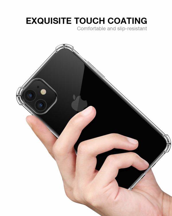 Joyguard Coque  4 - Joyguard Coque iPhone 11 2019 [2 × Verre trempé Protection écran], iPhone 11 Coque Souple TPU Silicone [Shock-Absorption] AIR Cushion Protection Coin Housse iPhone 11-6.1pouces - Transparent