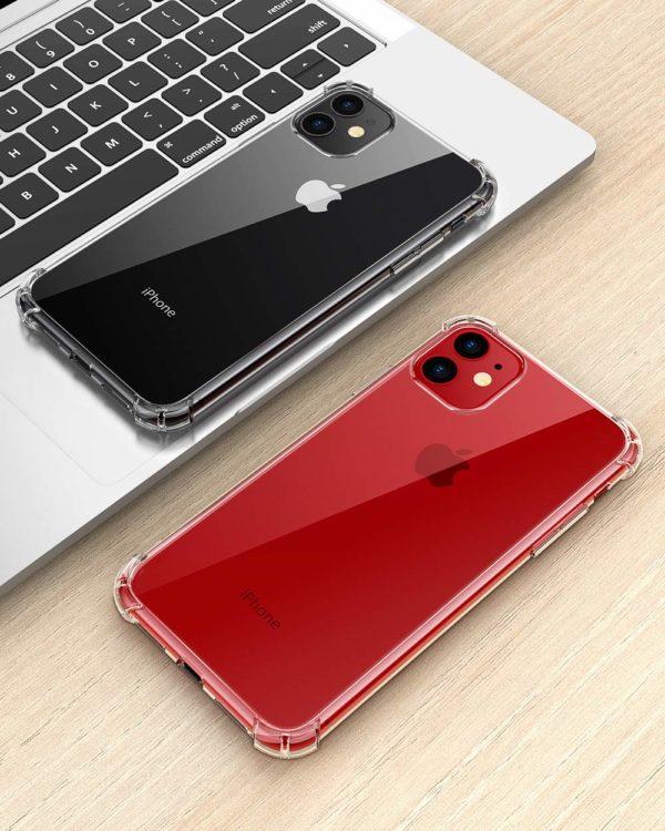 Joyguard Coque  5 - Joyguard Coque iPhone 11 2019 [2 × Verre trempé Protection écran], iPhone 11 Coque Souple TPU Silicone [Shock-Absorption] AIR Cushion Protection Coin Housse iPhone 11-6.1pouces - Transparent