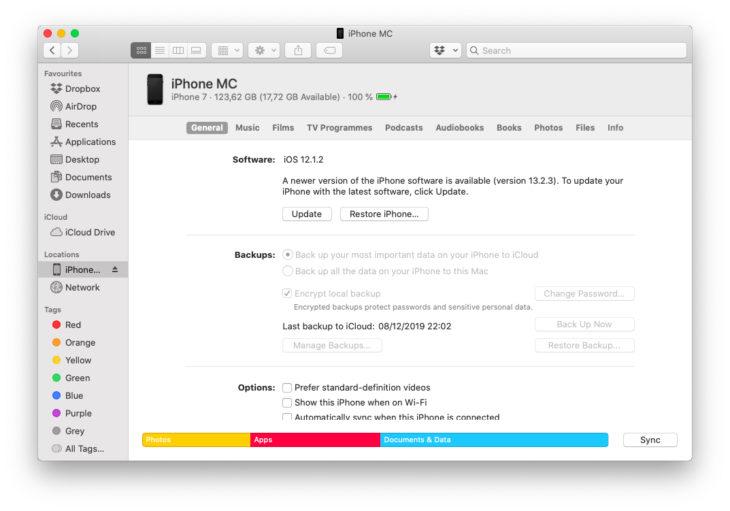 macOS Catalina : Comment mettre à jour son iPhone/iPad sous iOS 13 ?