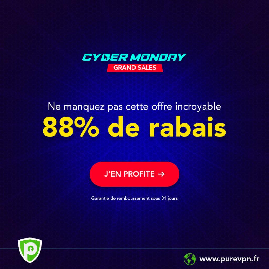 PureVPN Cyber Monday 2019 1024x1024 - Cyber Monday 2019: PureVPN franchit les prix!