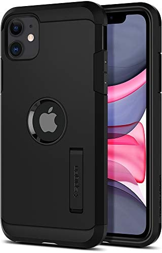 Spigen Coque iP - Spigen Coque iPhone 11 [Tough Armor] Protection Ultime [US Military Grade] et [Air Cushion] Coque Compatible avec iPhone 11 (2019) - Noir