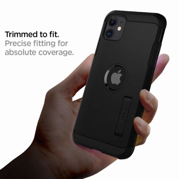 Spigen Coque iP 4 - Spigen Coque iPhone 11 [Tough Armor] Protection Ultime [US Military Grade] et [Air Cushion] Coque Compatible avec iPhone 11 (2019) - Noir
