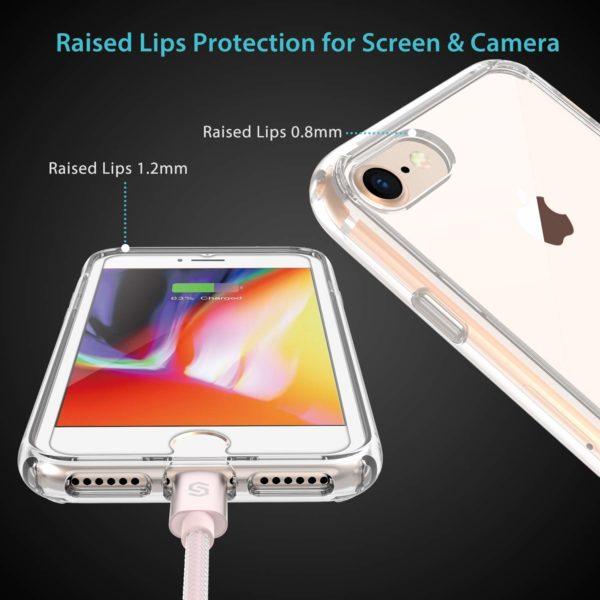 Syncwire Coque  1 - Syncwire Coque iPhone 8/7 Transparente - Housse de Protection en Silicone Rigide Anti Choc avec Technologie de Coussins d'air Étuis iPhone 8 / iPhone 7 Coque UltraRock Séries - Transparent