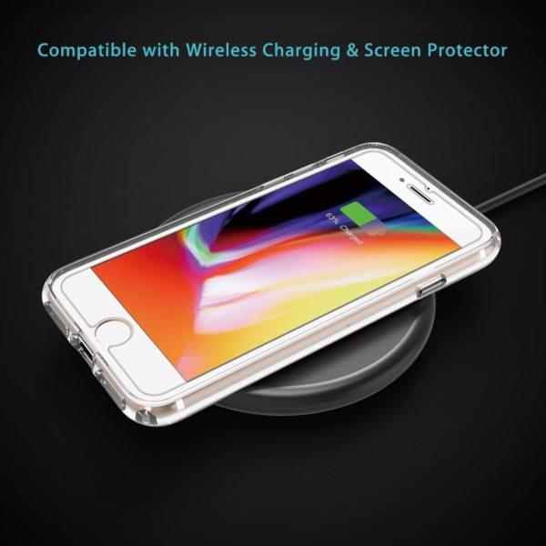 Syncwire Coque  3 - Syncwire Coque iPhone 8/7 Transparente - Housse de Protection en Silicone Rigide Anti Choc avec Technologie de Coussins d'air Étuis iPhone 8 / iPhone 7 Coque UltraRock Séries - Transparent