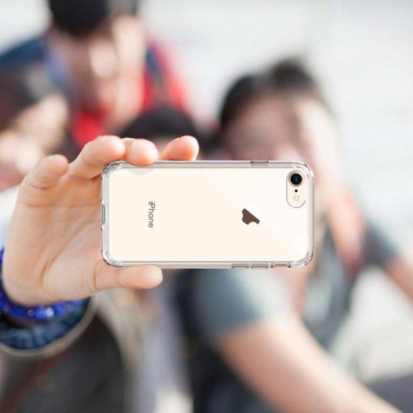 Syncwire Coque  5 - Syncwire Coque iPhone 8/7 Transparente - Housse de Protection en Silicone Rigide Anti Choc avec Technologie de Coussins d'air Étuis iPhone 8 / iPhone 7 Coque UltraRock Séries - Transparent