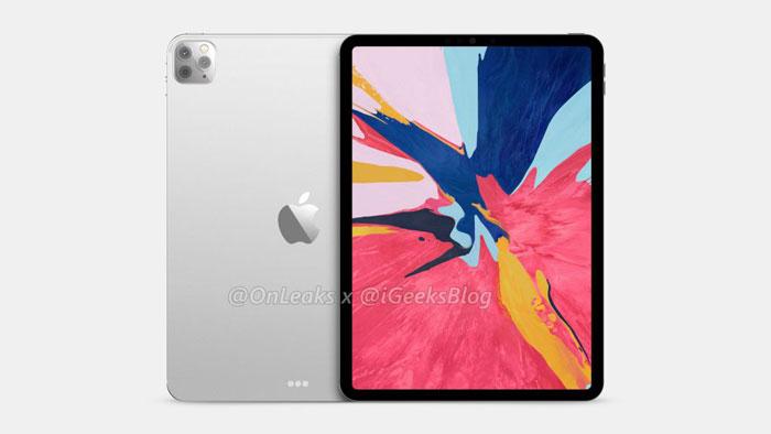 rendu ipad pro 2020 2 1024x576 1 - iPad Pro 2020 : un triple capteur photo en approche ?