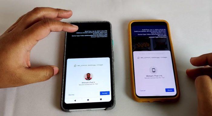 Nearby Sharing : l'équivalent d'AirDrop sur Android se montre