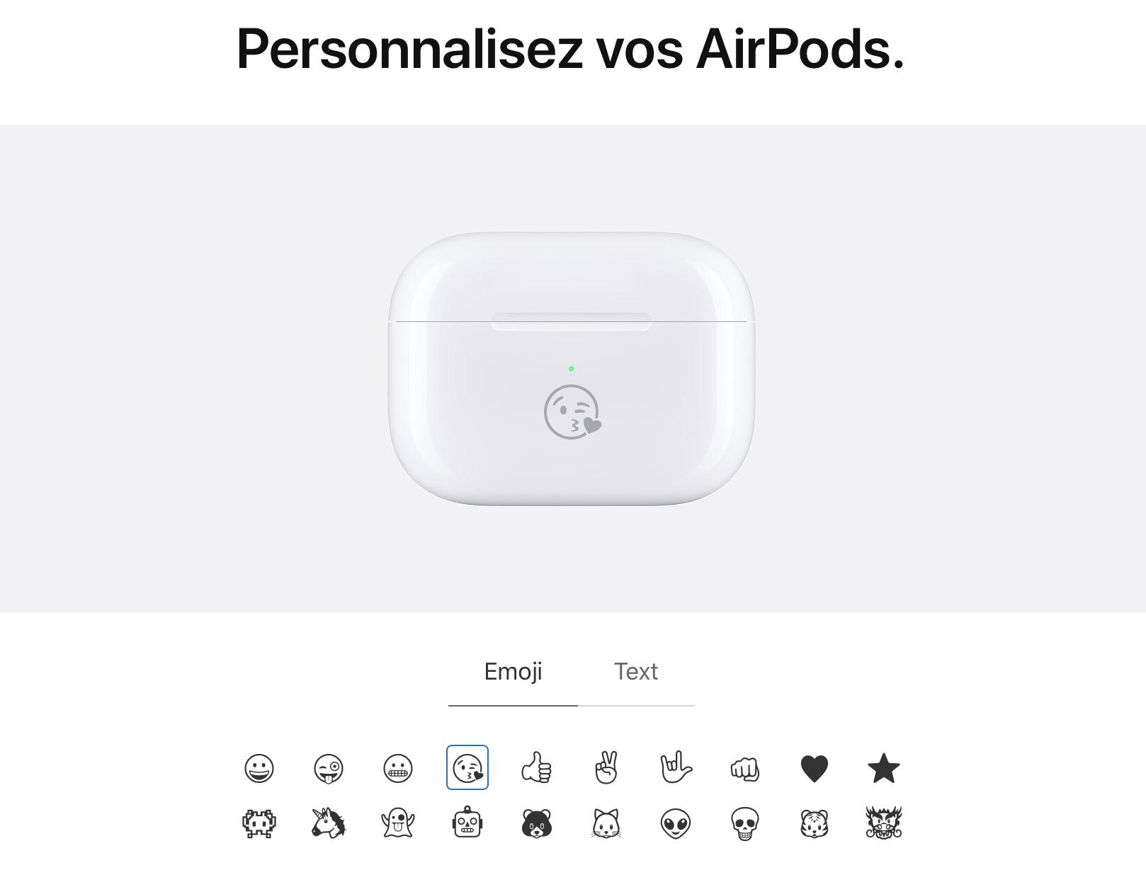 airpods pro gravure 4 - AirPods : vous pouvez désormais graver des émojis sur le boitier !