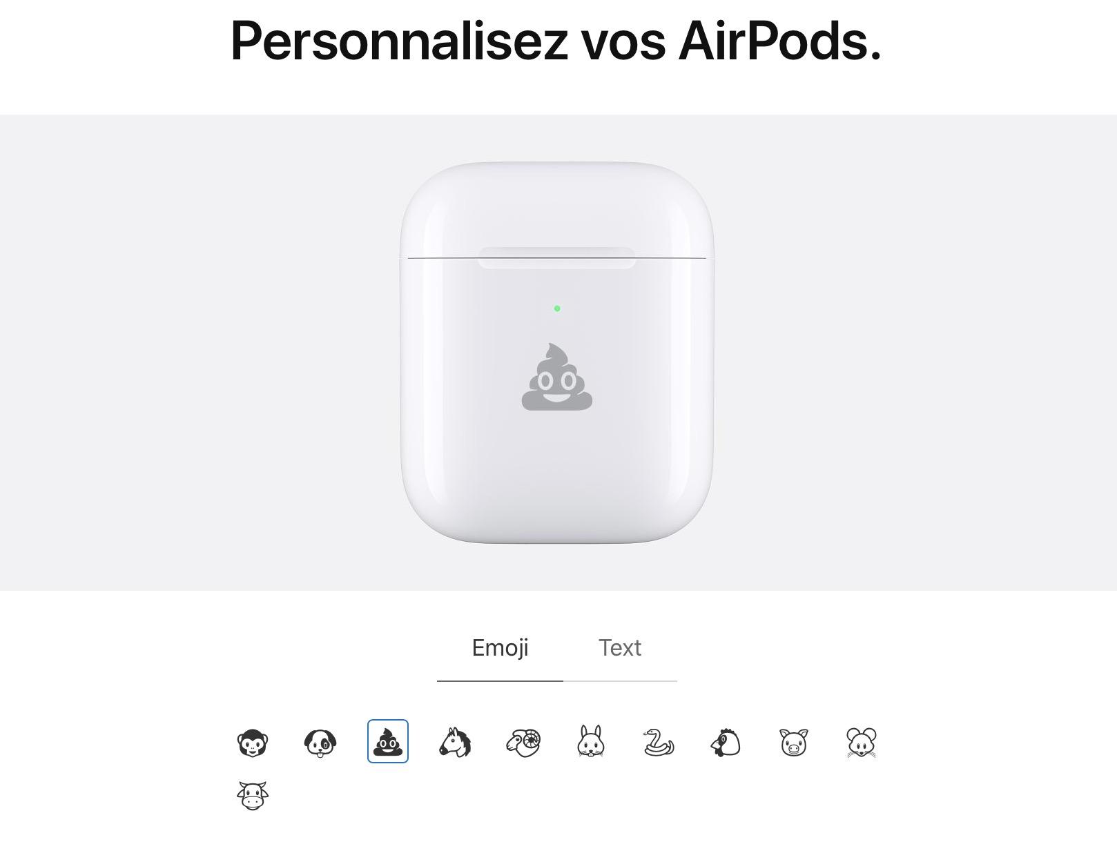 airpods pro gravure 5 - AirPods : vous pouvez désormais graver des émojis sur le boitier !