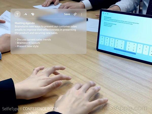 SelfieType : le clavier Samsung que l'on fera apparaître sous nos doigts