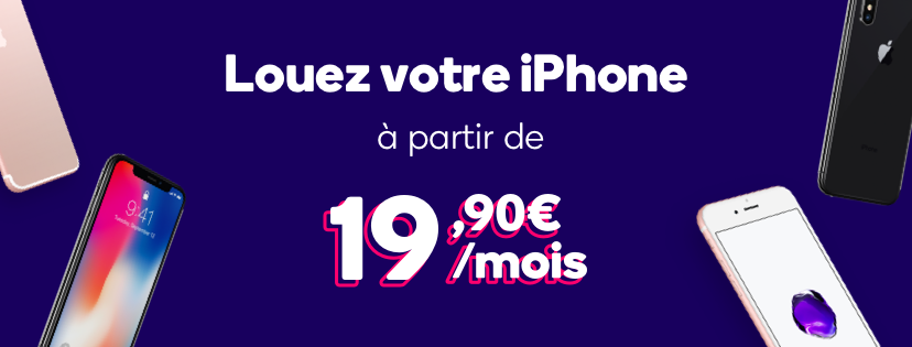 Location iPhone Mobile Club - Mobile Club : la location d'iPhone dès 19,90€/mois !