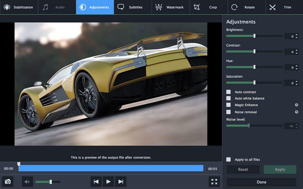 Movavi video converter 1024x641 - Top 5 des meilleurs convertisseurs vidéo pour Mac en 2020