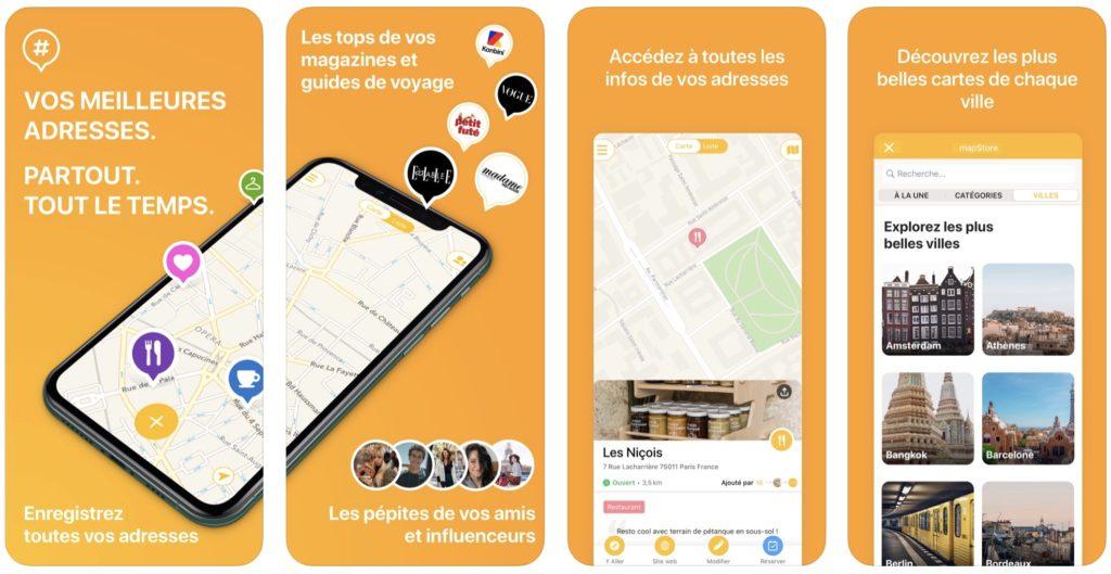 App du jour : Mapstr, votre carte du monde (iPhone - gratuit)