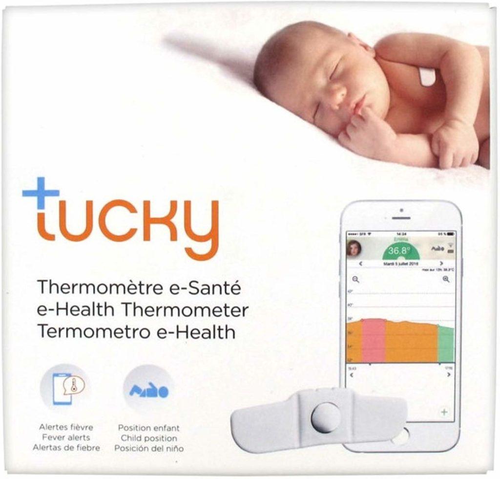 tucky thermometre connecte 1024x980 - Tucky : le 1er thermomètre connecté pour bébé (iOS & Android)