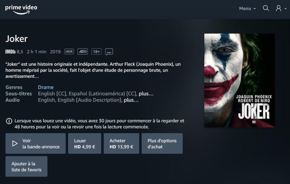 Vous pouvez désormais louer ou acheter des films sur Amazon Prime Video