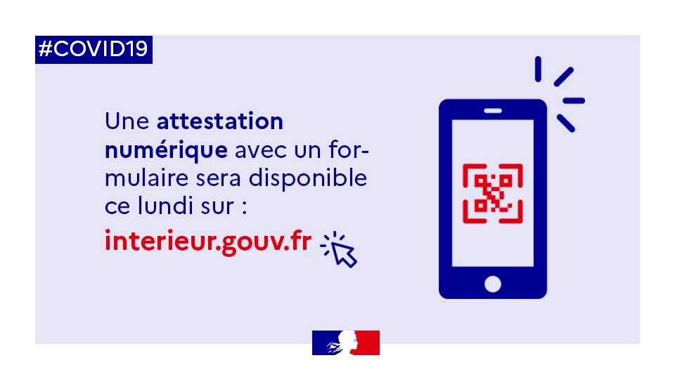 L'attestation de déplacement sur smartphone disponible le 6 avril