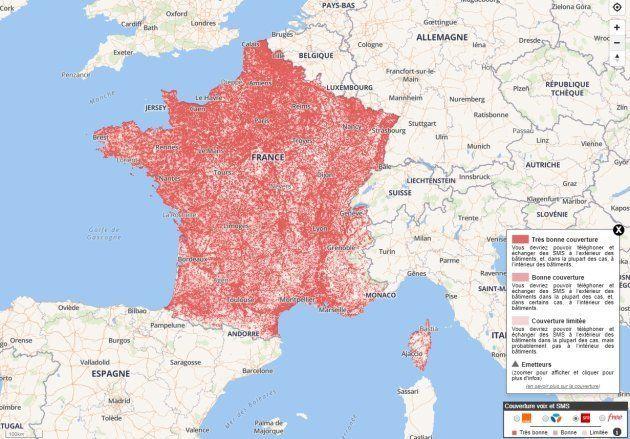 Cette impressionnante cartographie détaille la qualité du réseau internet fixe en France