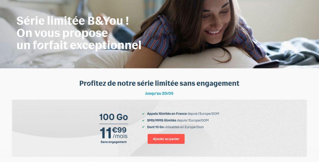 bouygues byou 100go 1024x521 1 - B&You : 100 Go par mois sans engagement pour 11,99€, c'est jusqu'à ce soir 19h