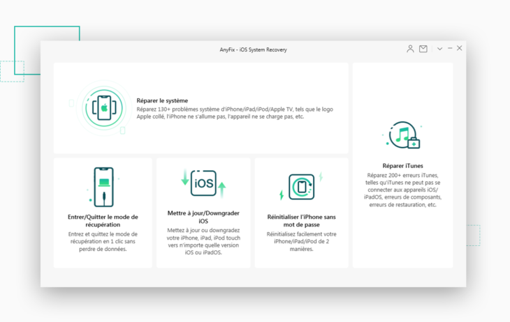 AnyFix : réparer iOS (iPhone), iPadOS, tvOS, les erreurs iTunes…