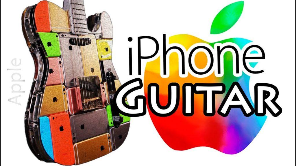 iCaster : une guitare fabriquée à l'aide de 107 iPhone