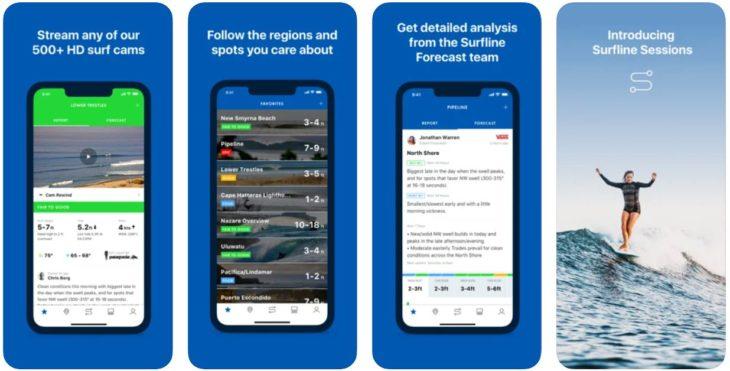 App du jour : Surfline – Surfing Companion (iPhone & iPad – gratuit)